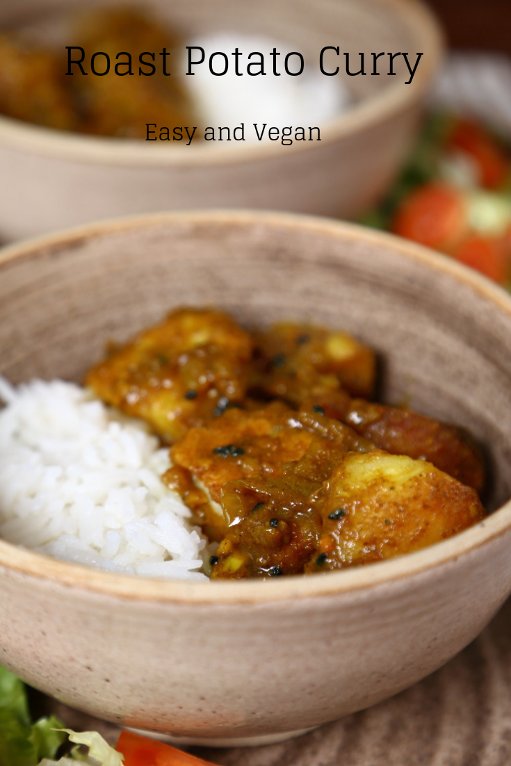 Roast Potato Curry, Easy and Vegan