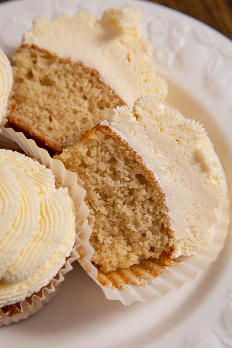 Vegan Vanilla Cupcake with Buttercream Frosting.