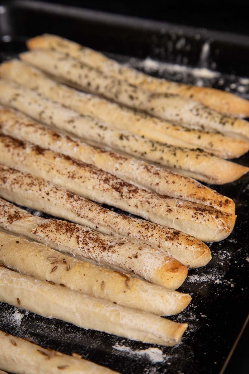 Handmade Vegan Breadsticks.