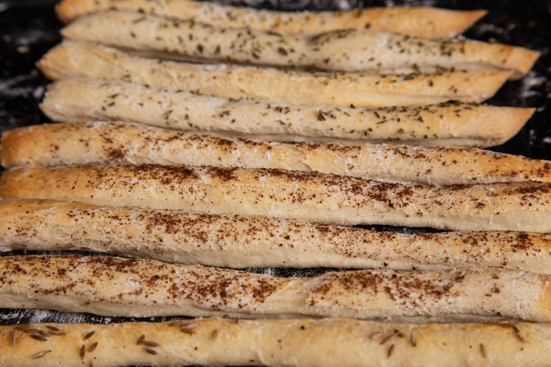 Homemade vegan breadsticks