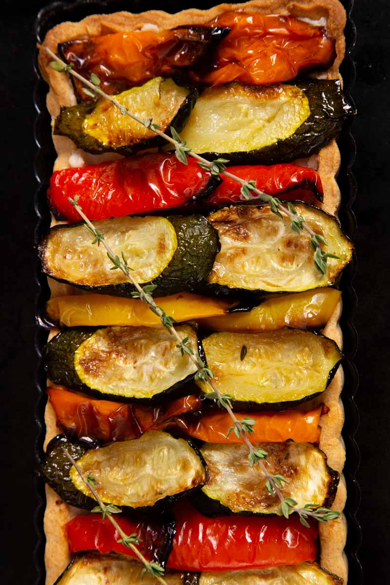 Roasted Mediterranean Vegetable - Vegan Tart.