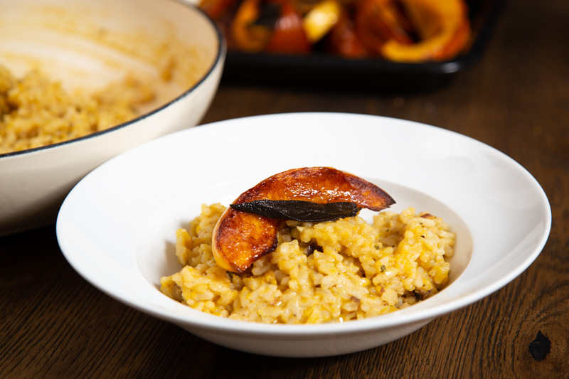 Oven baked Risotto with Pumpkin