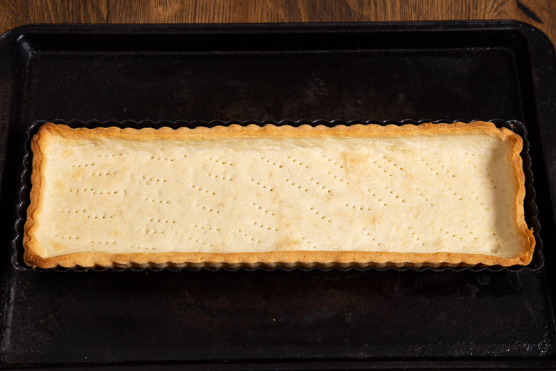 Blind baked pastry case.