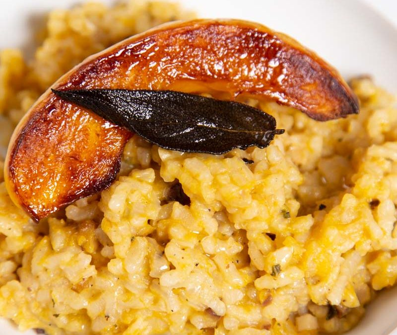 Baked Pumpkin Risotto with Crispy Fried Sage