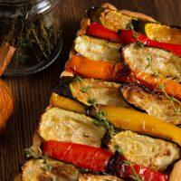 Vegan Tart with Roast Vegetables and Smoked Garlic