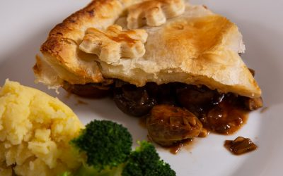 Vegan Mushroom Pie With Ale and Chestnuts
