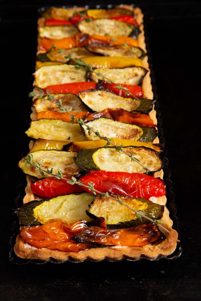 Roast vegetable Tart.