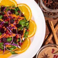Beetroot and Orange Christmas Salad