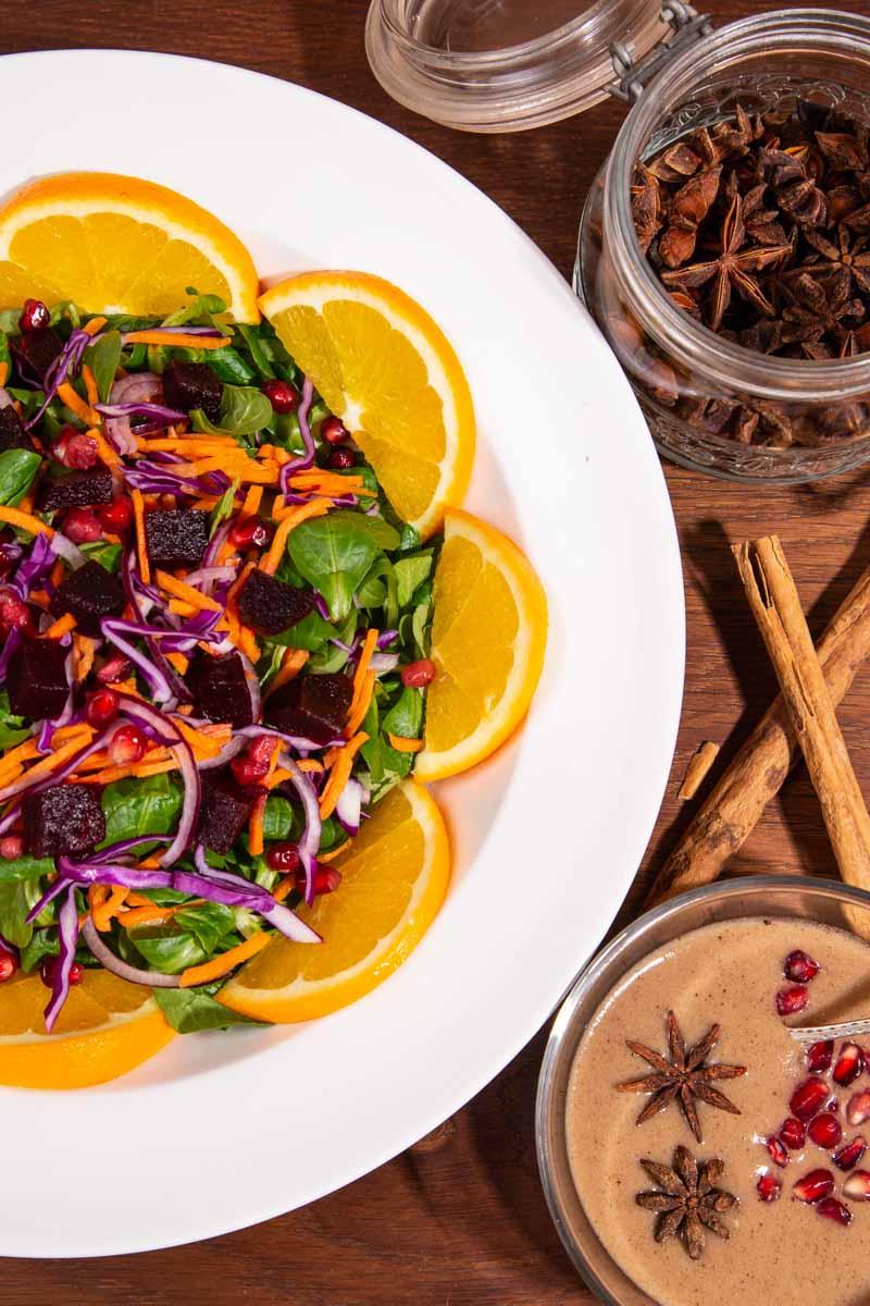 Beetroot and Orange Christmas Salad.
