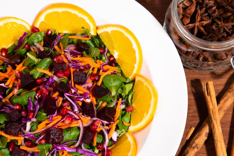 Winter Slaw with Beetroot and Orange.