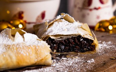 Left Over Christmas Pudding Strudel