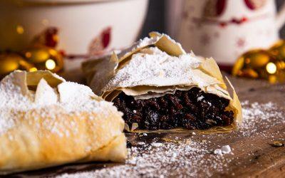 Left Over Christmas Pudding Strudel