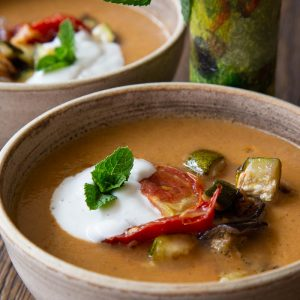 Roasted Aubergine Soup