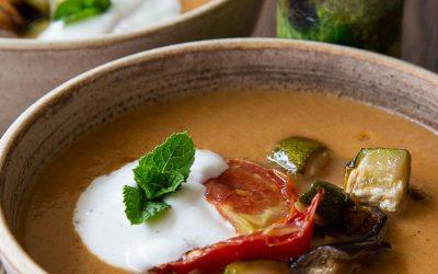 Roast Aubergine Soup