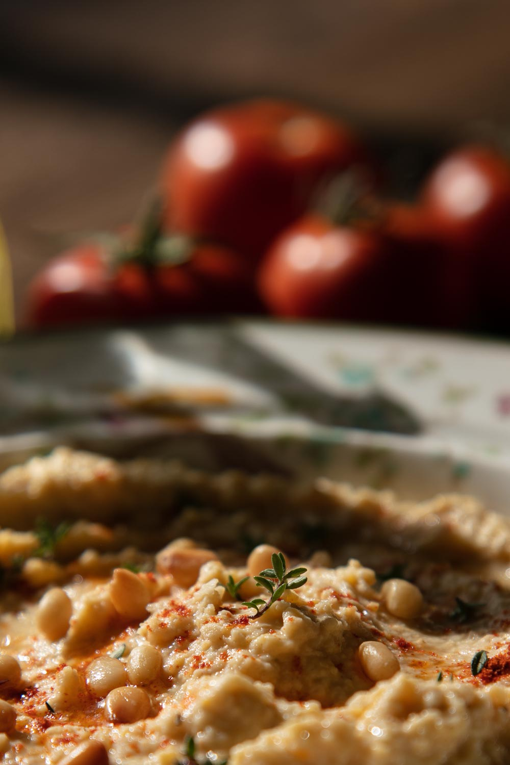 Hummus with Tomatoes.