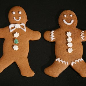 Iced Vegan Gingerbread People.