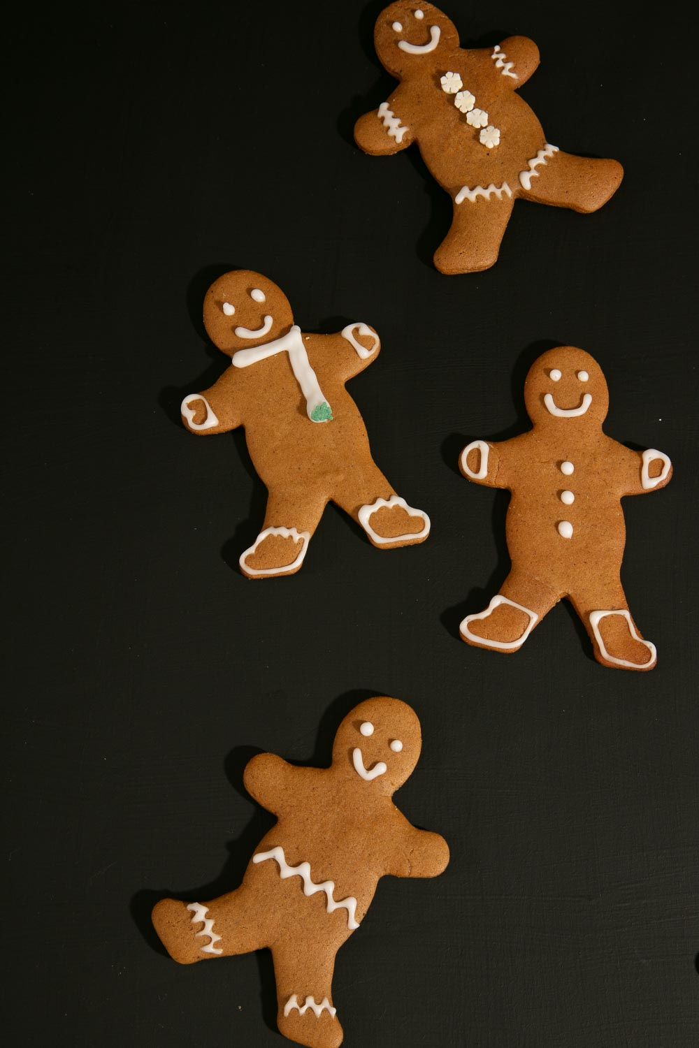Decorated Vegan Gingerbread Men.