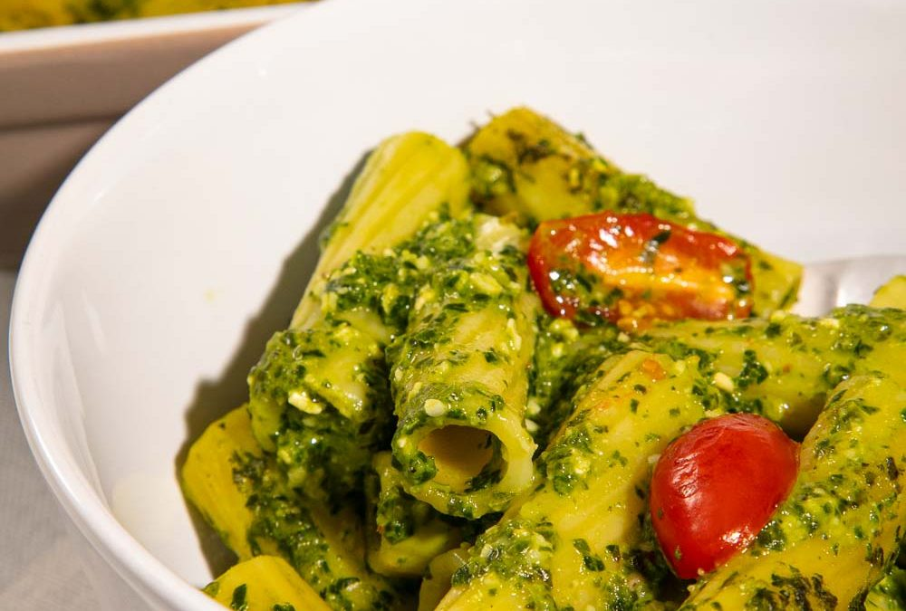 Pesto Pasta Bake with Hidden Veg!